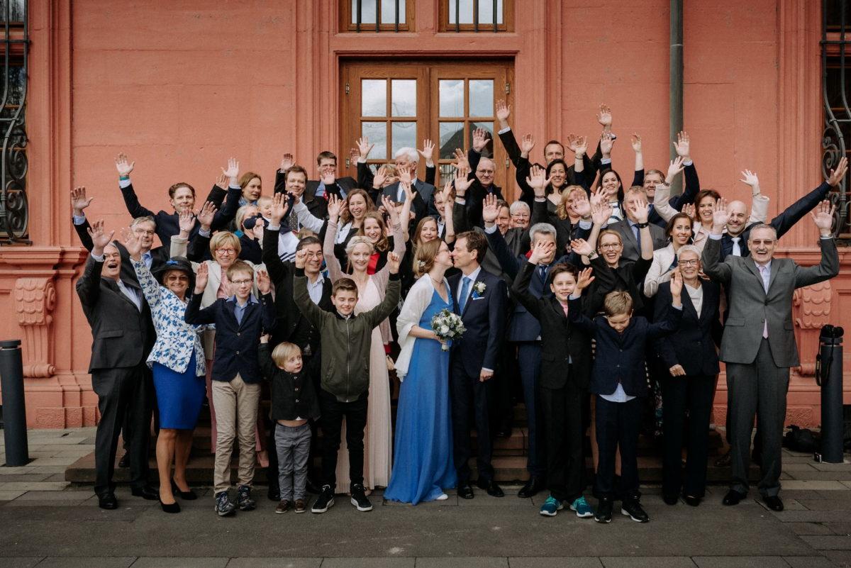 Gruppenfoto,Kurfürstlichen Schloss Mainz,Hände hoch