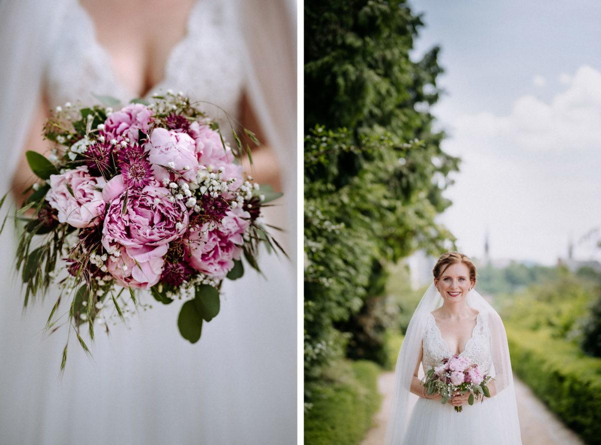 Brautstrauß,Rosen,Brautkleid,Schleier