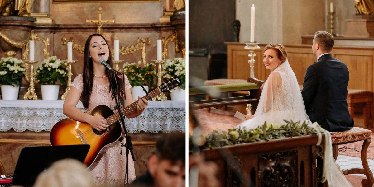Hochzeitssängerin,Gitarre,Frau,Altar,Mikrofon