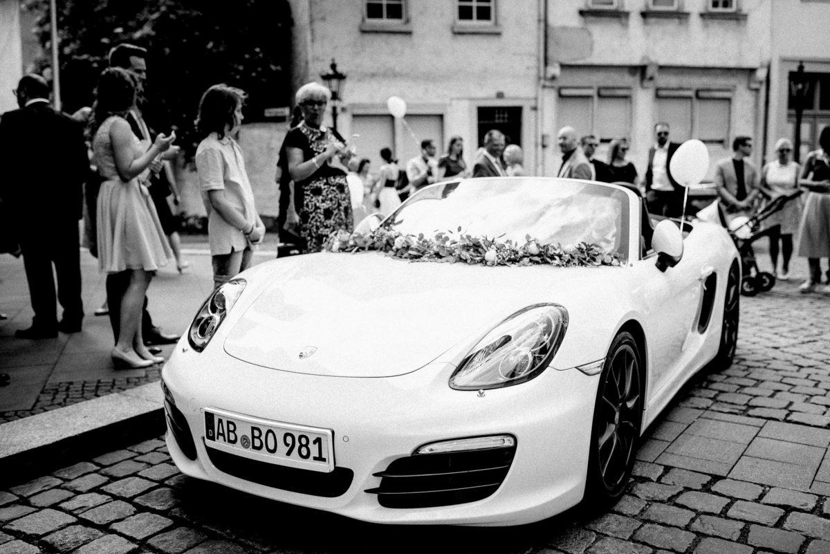 Hochzeitsauto,Porsche,Autoschmuck,Luftballon,
