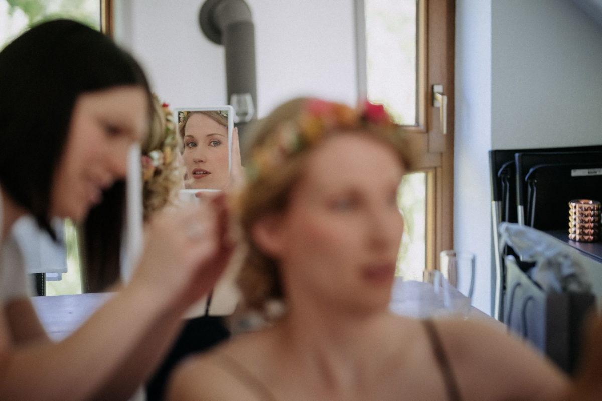 Spiegel,Spiegelbild,Kaminrohr,