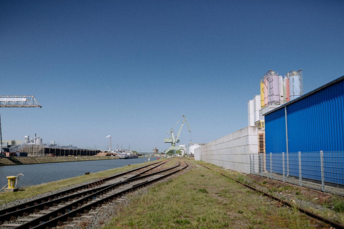 Aschaffenburger Hafen,Bahngleisen,Main,Industriegebiet