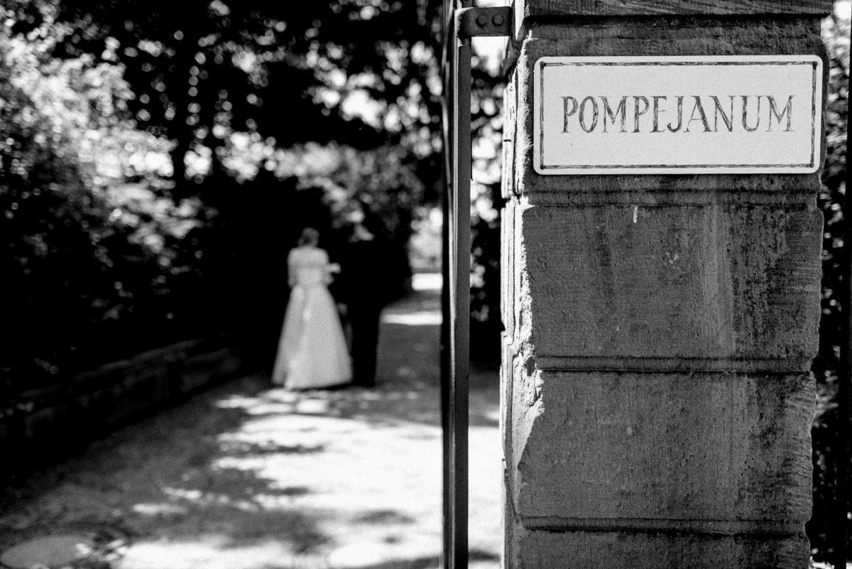 Pompejanum Aschaffenburg,Stadtpark,Steinmauer