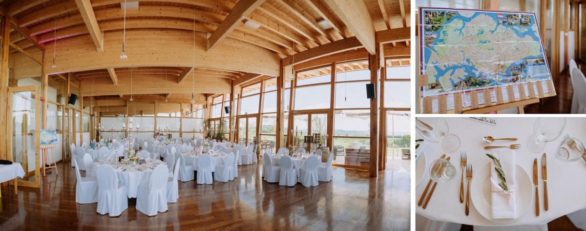 Hochzeitslocation,Gründau,Speisesaal.Holzdecke,Balken