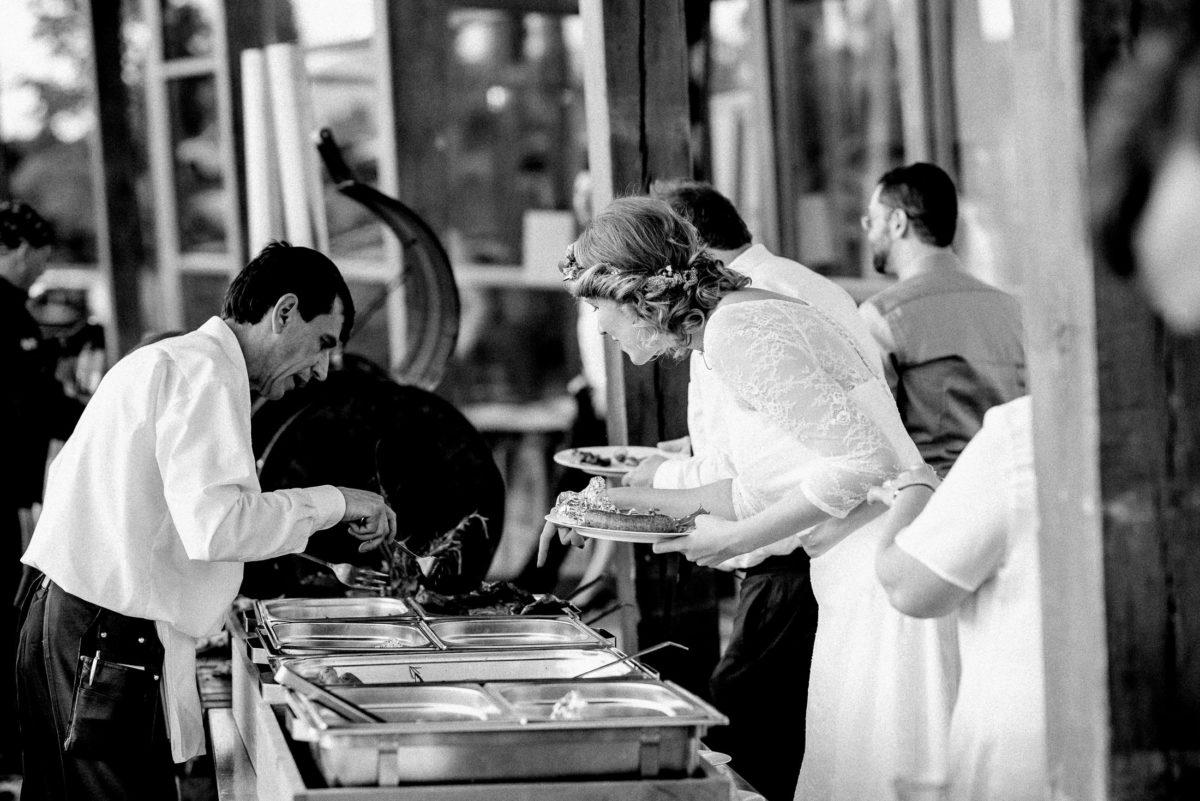 Hochzeitsbuffet,Essen,Teller,