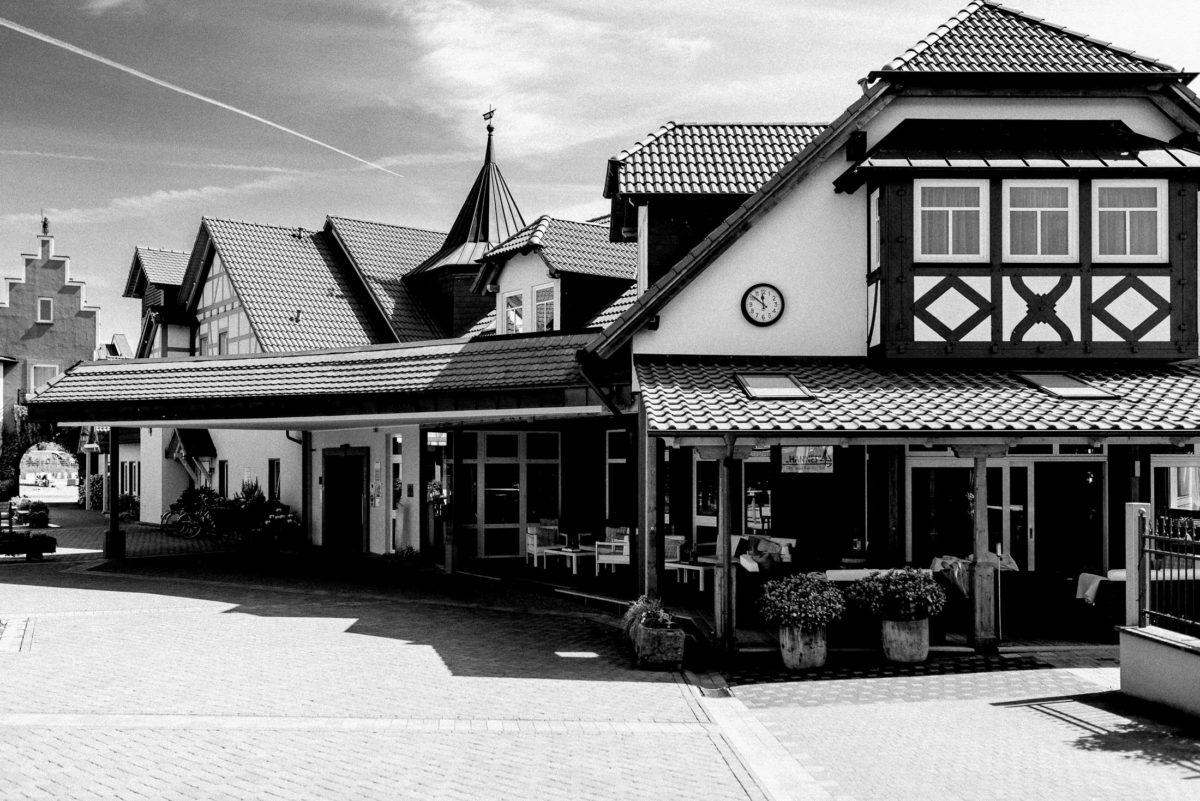 Seehotel Niedernberg,Rezeption,Eingang,Fachwerk