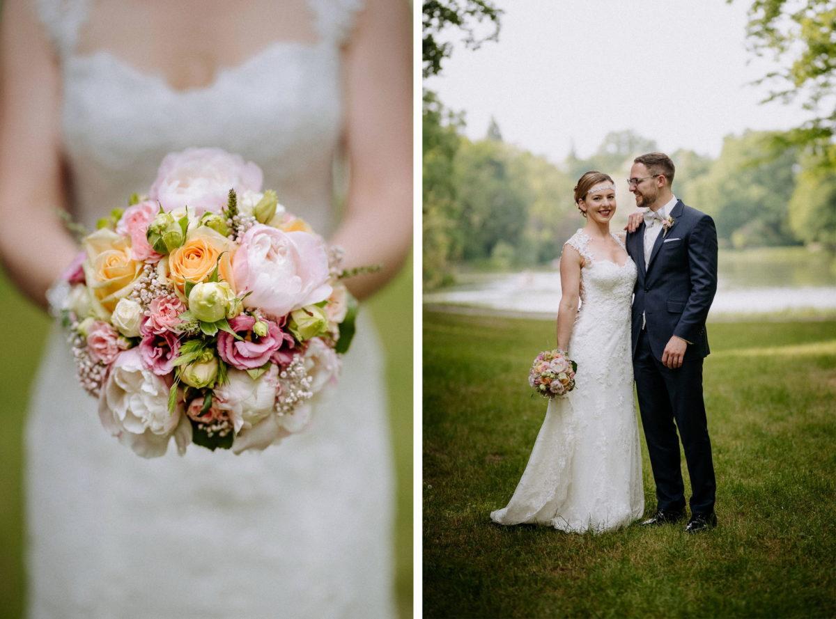 Hochzeitsshooting,Brautstrauß,Rosen,See,Weeding