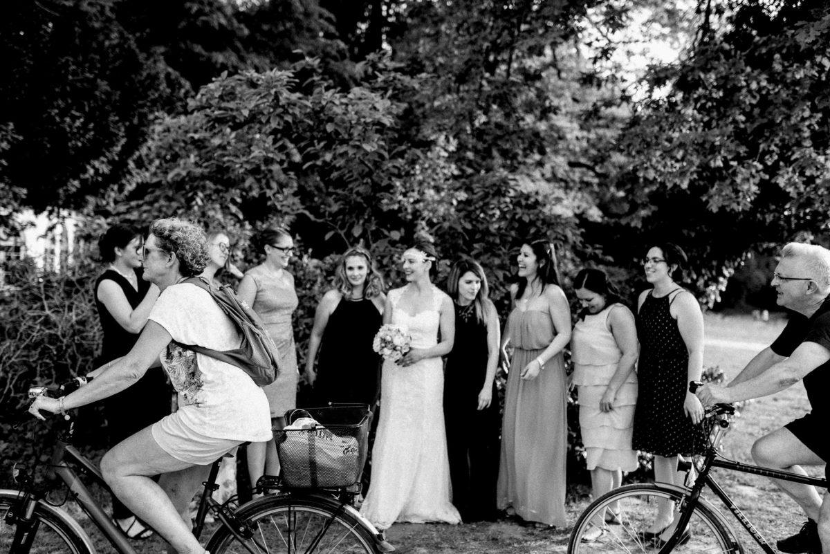 Frauengruppe,Freundinnen,Radfahrer,Schönbusch Aschaffenburg