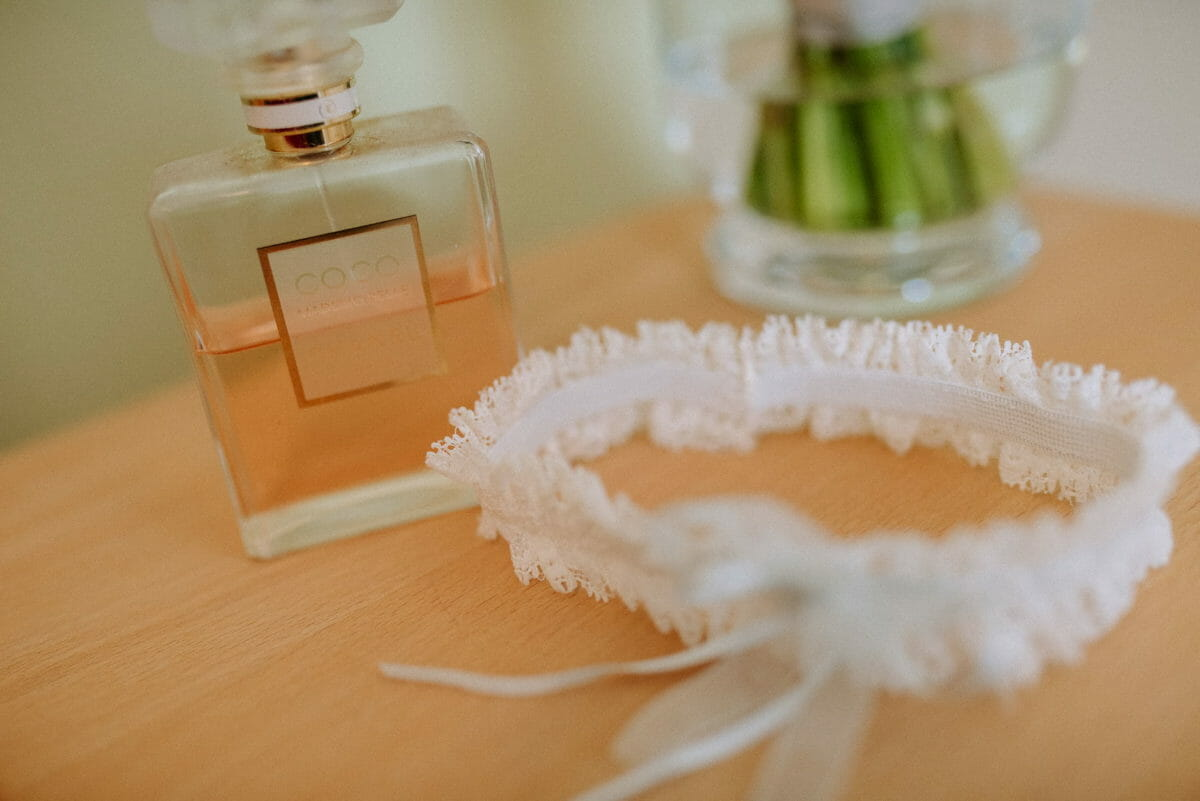 Coco Parfum,Strumpfband weiß,
