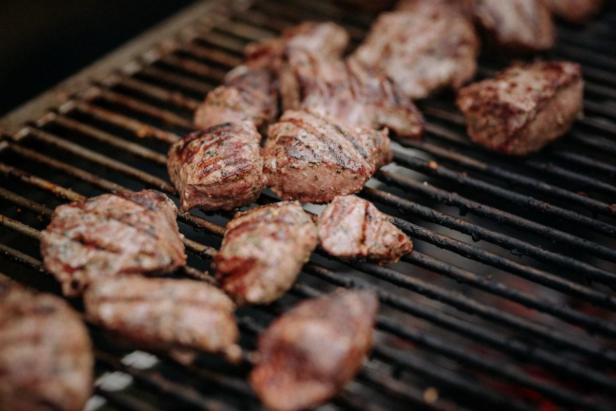 Grillrost,Fleisch,Kohle,Glut