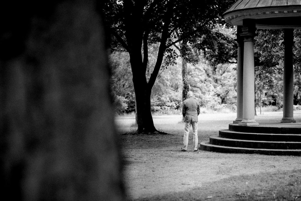 Nilkheimer Park,Bäume,Steinsäule,Treppen