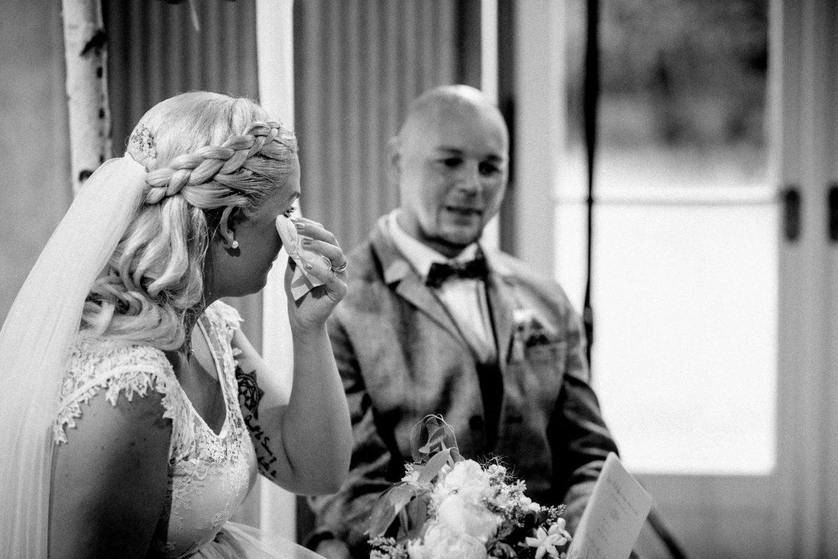 Tränen der Freude,Flechtfrisur,Hochzeit,Emotionen