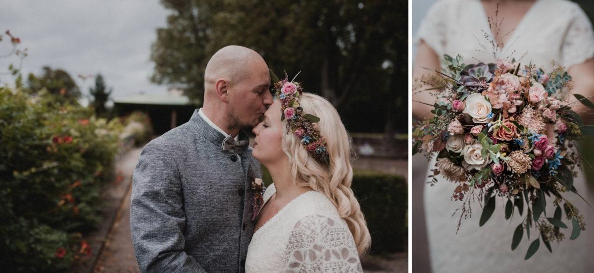 Paarshooting,Hochzeit,Wildblumen,blond,