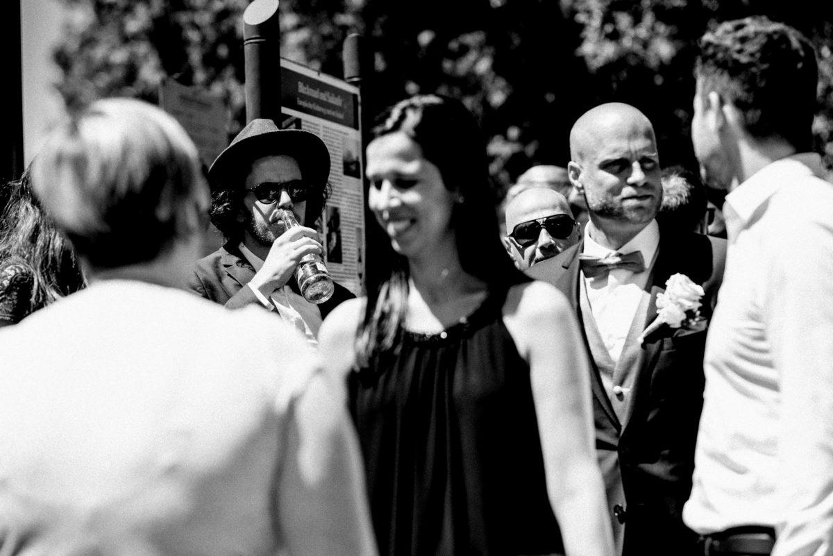 Hochzeitsgäste,Bräutigam,Empfang,Hut
