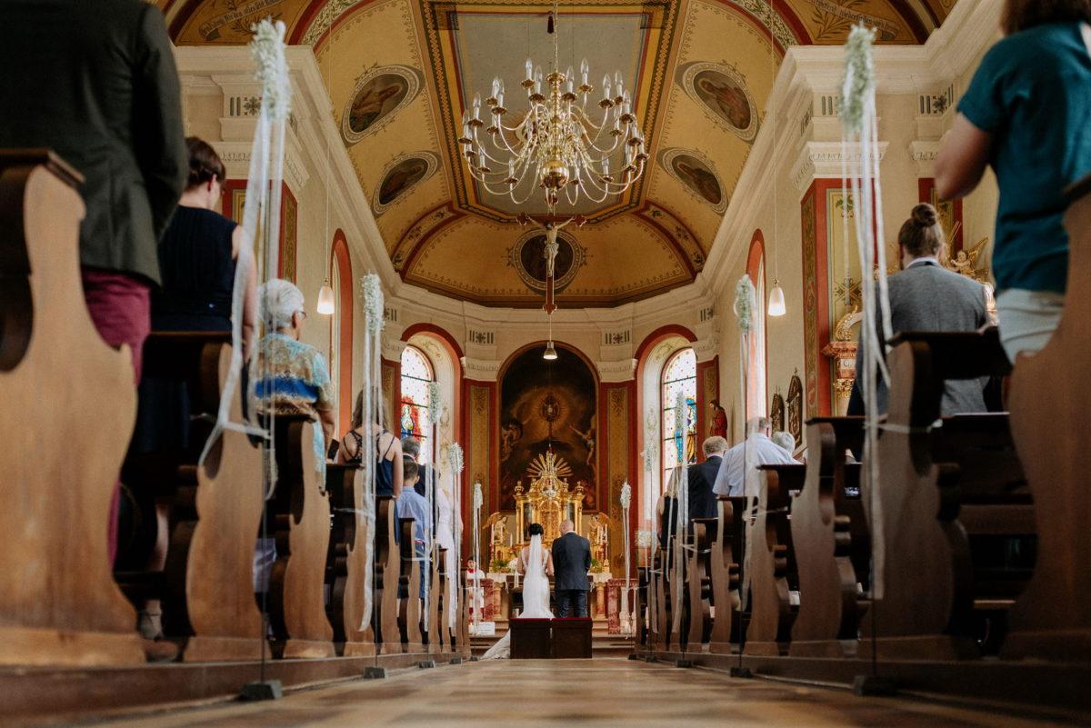 St. Vitus Kirche,Innenraum,Kanzel,Kirchendekoration