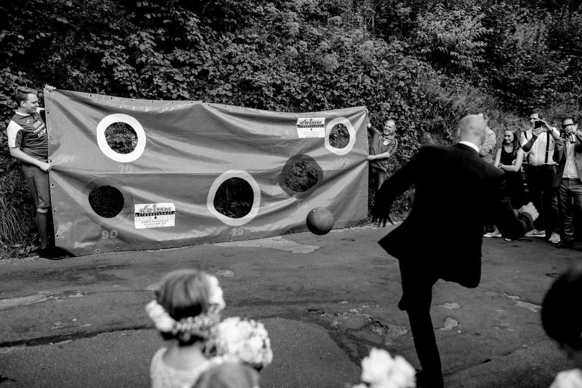 Torwand,Fußball,kicken,treffen,Bräutigam,Hochzeitsspiel