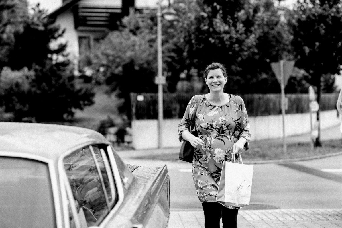 Frau,Handtasche,Einkaufstüte,Straße,