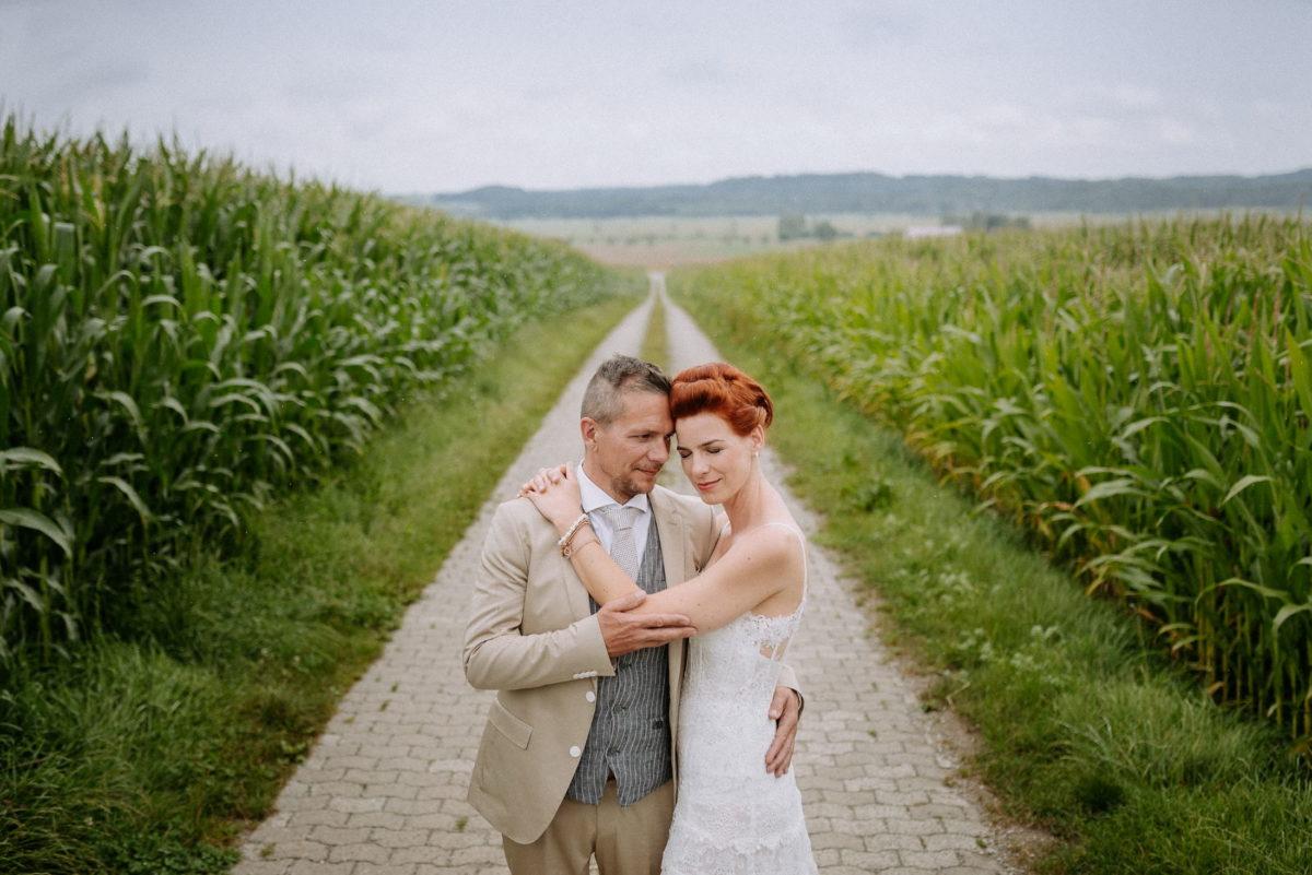 Maisfeld,Gehweg,Hochzeitsshooting,Natur,Ausblick,