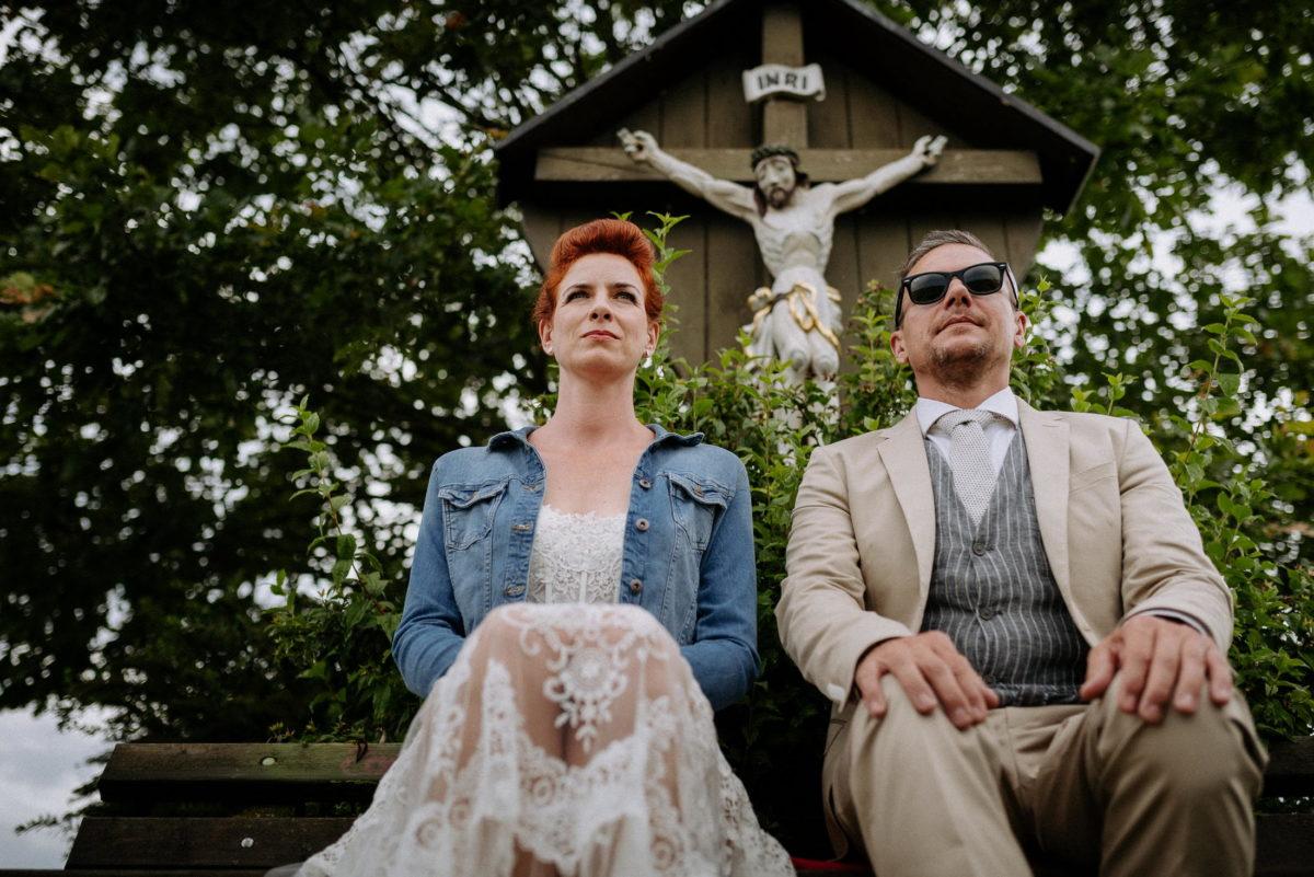 Kruzifix,Brautpaar,Hocheitsbilder,Shooting,Anzug