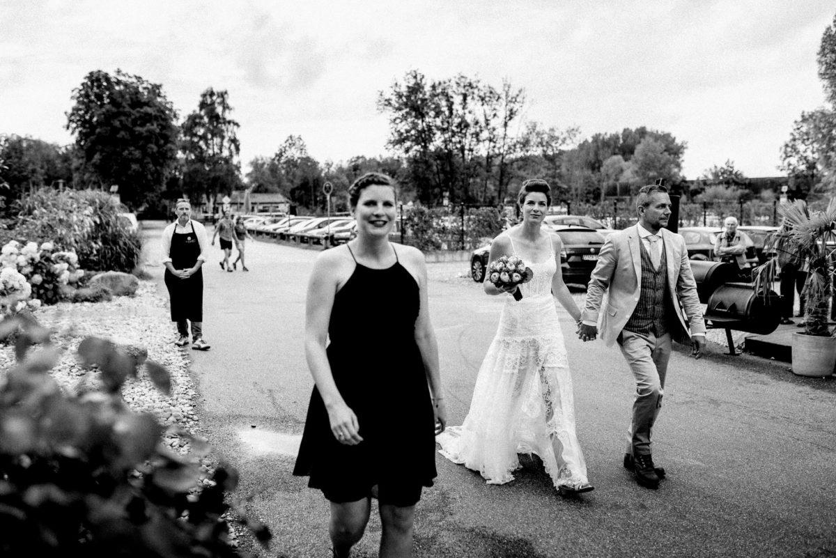 Brautpaar,Hochzeit,Smoker,Kochschürze,