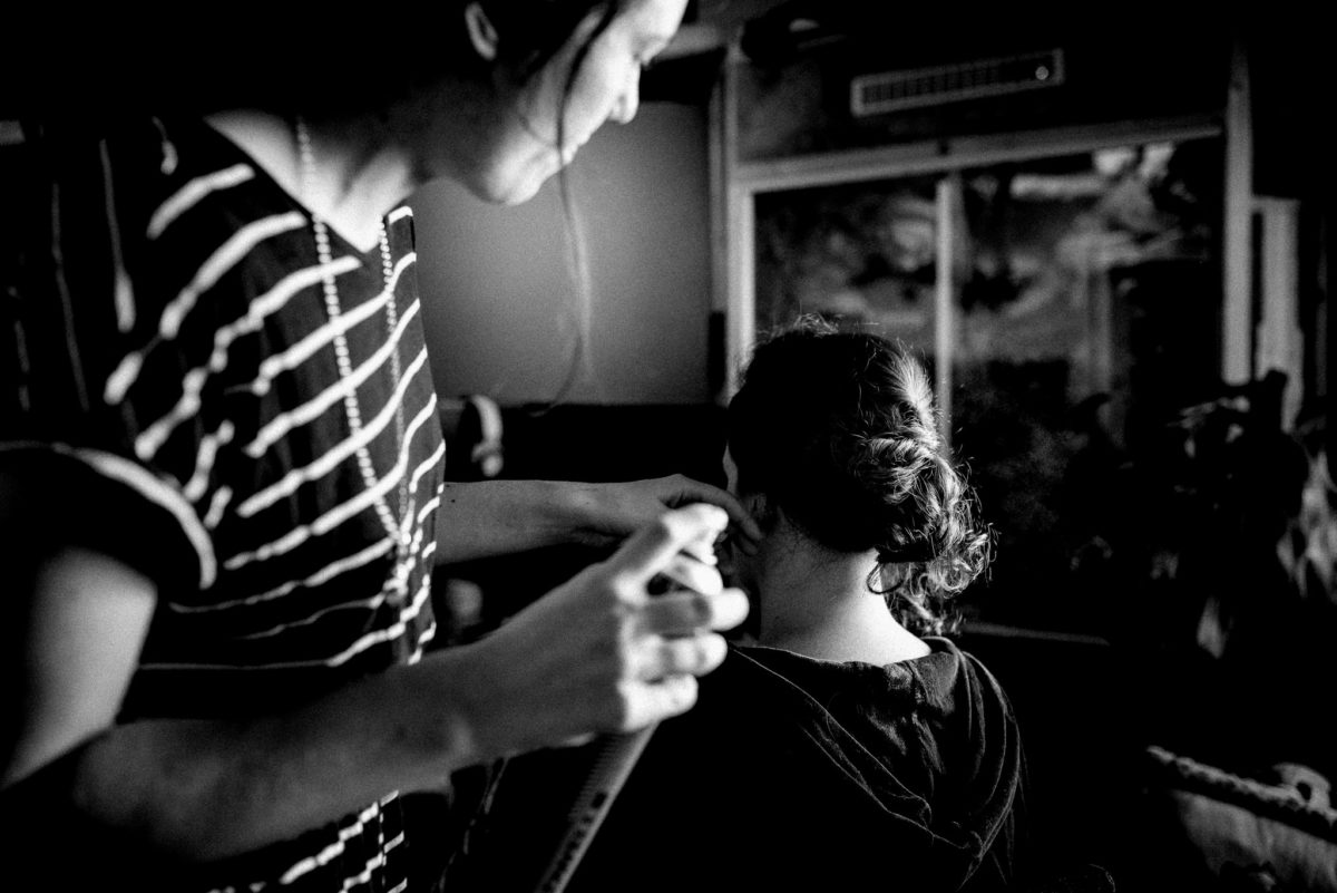 Frisur, Streifen, Kette, Haarspray, Zopf, Frauen