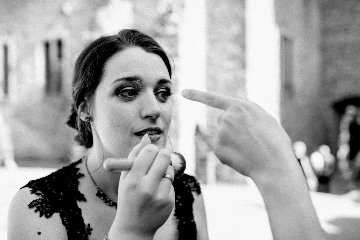 Brautstyling, Makeup, Pinsel, Braut, Hochzeit, heiraten