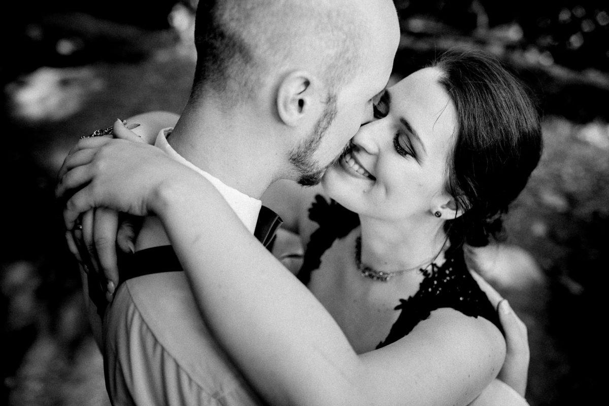 Brautpaar, Liebe, Mann, Frau, Ehepartner, schwarzweiß, Hochzeitsfotograph
