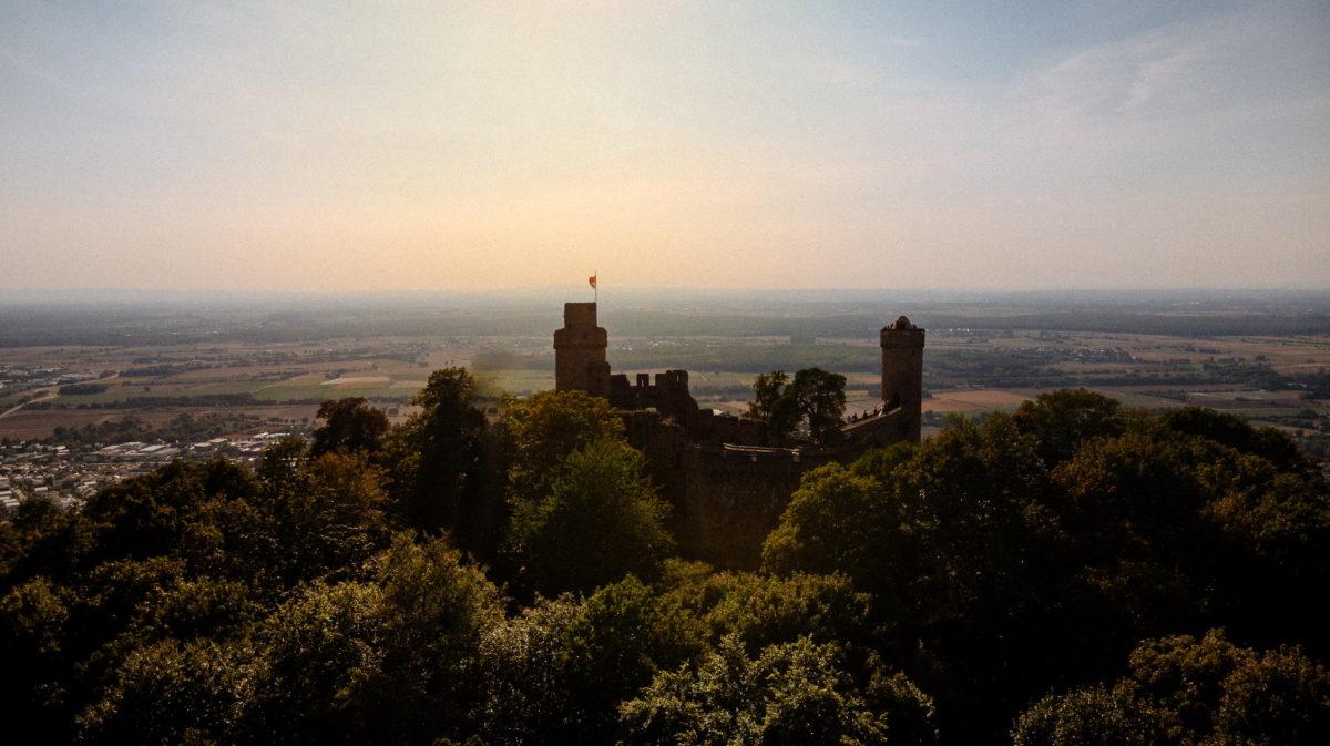 Schloss Auerbach, Bensheim, Darmstadt, Hochzeitslocation, Feierlocation, Sonnenuntergang