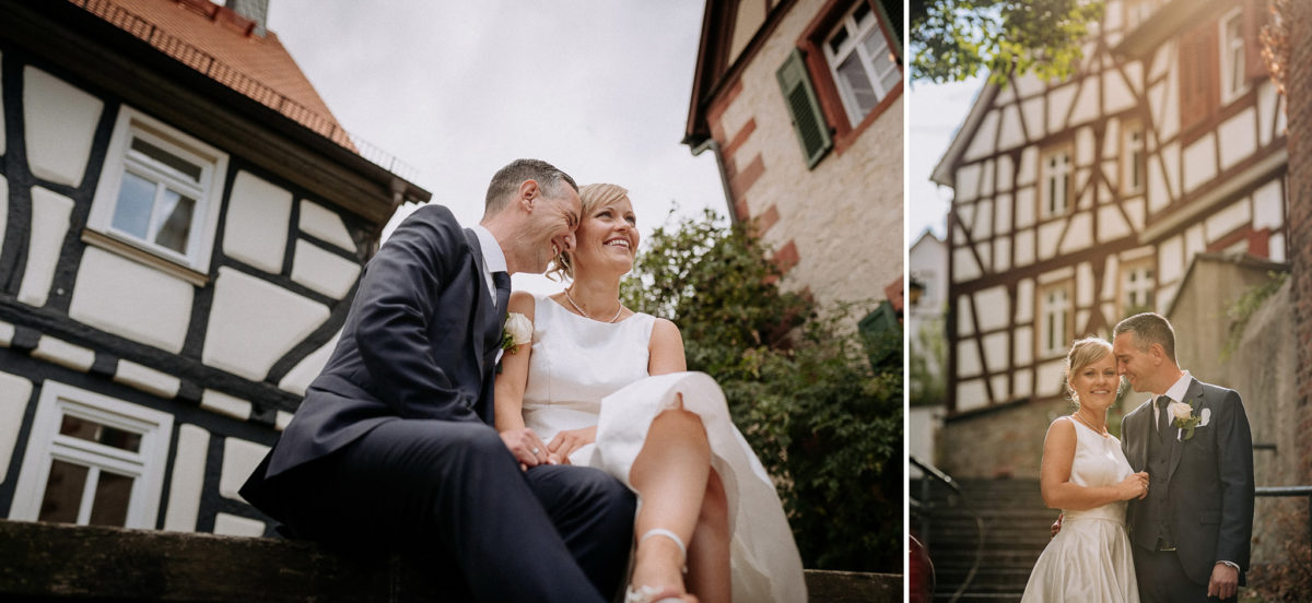 Fachwerkhaus, Brautpaar, heiraten, Hochzeitsfotograf