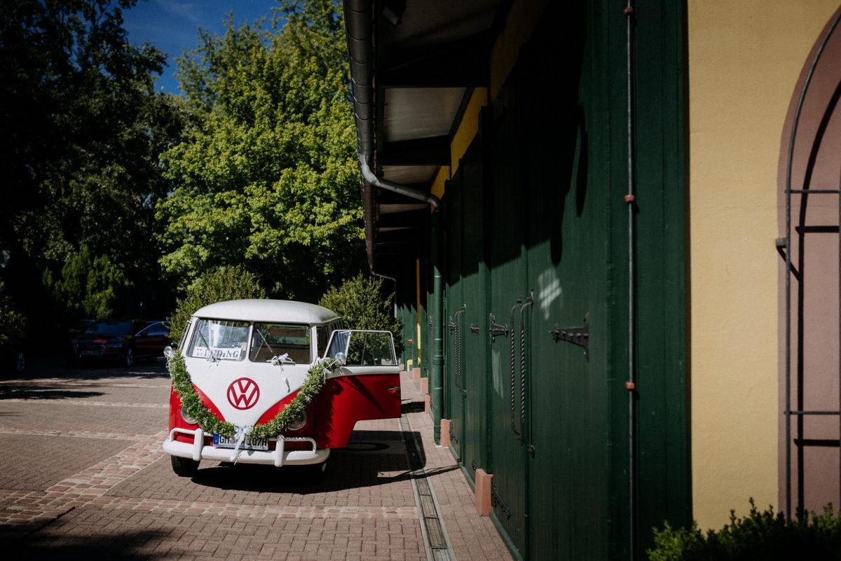 VW Bully, Hochzeitsauto, Hofgut Hünersdorff