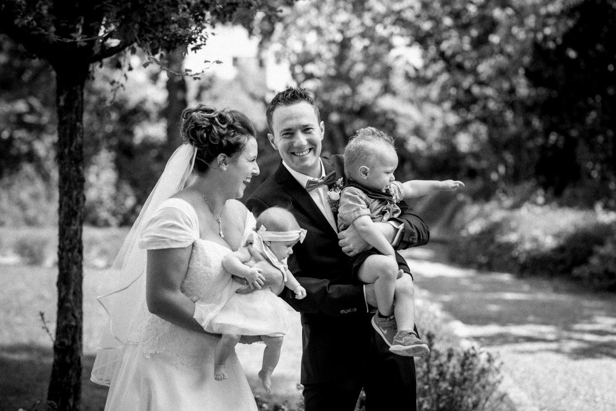 heiraten, Hochzeitsfotografie, Brautpaar, Kinder