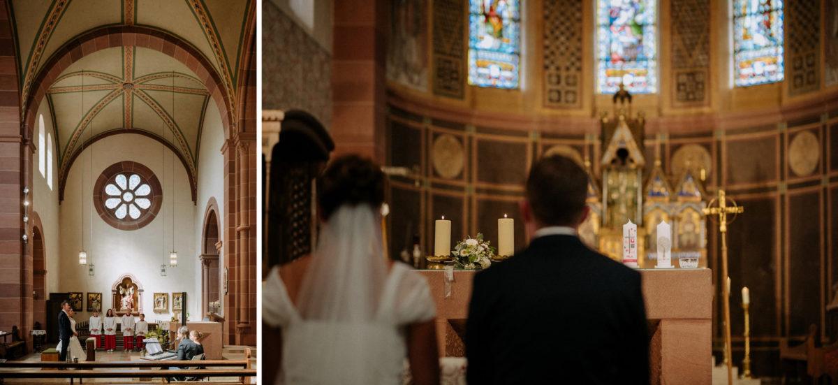Kirch Wörth, Kirchenschiff, heiraten, Brautpaar