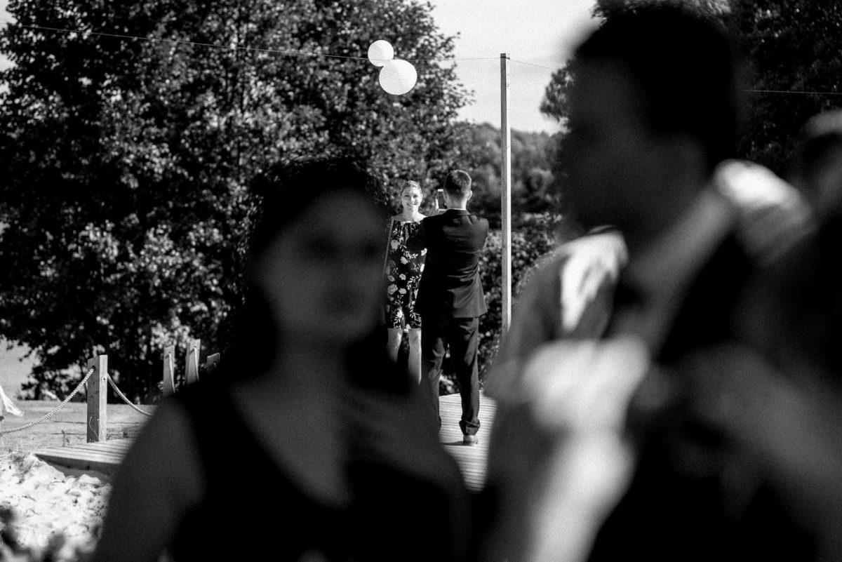 Hochzeitsfotografie, Lampions, schwarzweiß, heiraten