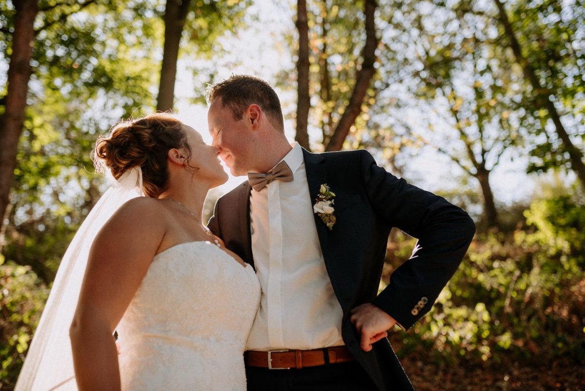 Hochzeitsfotografie, heiraten, Brautpaar, Kuss