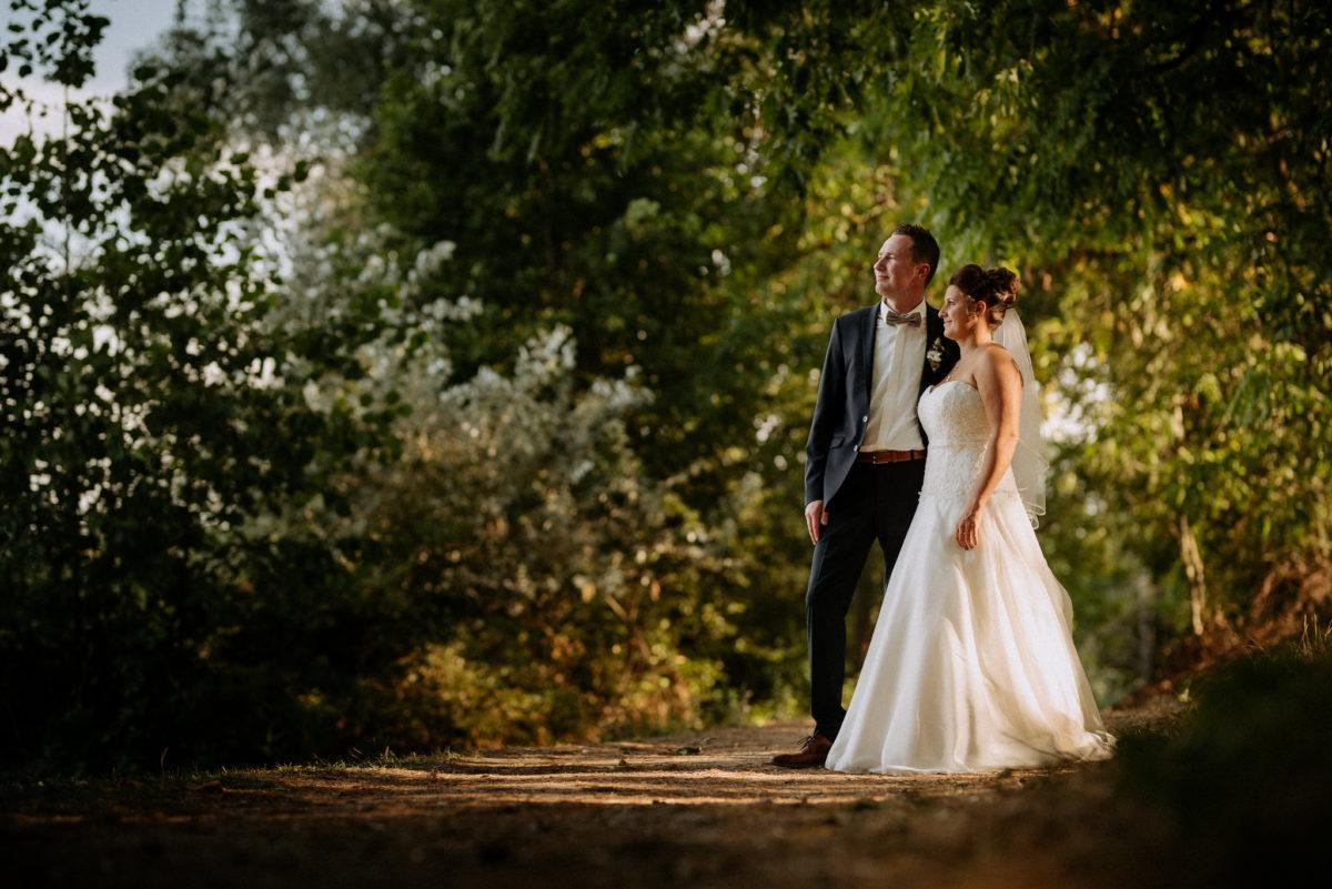 Hochzeitsfotografie, heiraten, Brautpaar, Wald, Natur