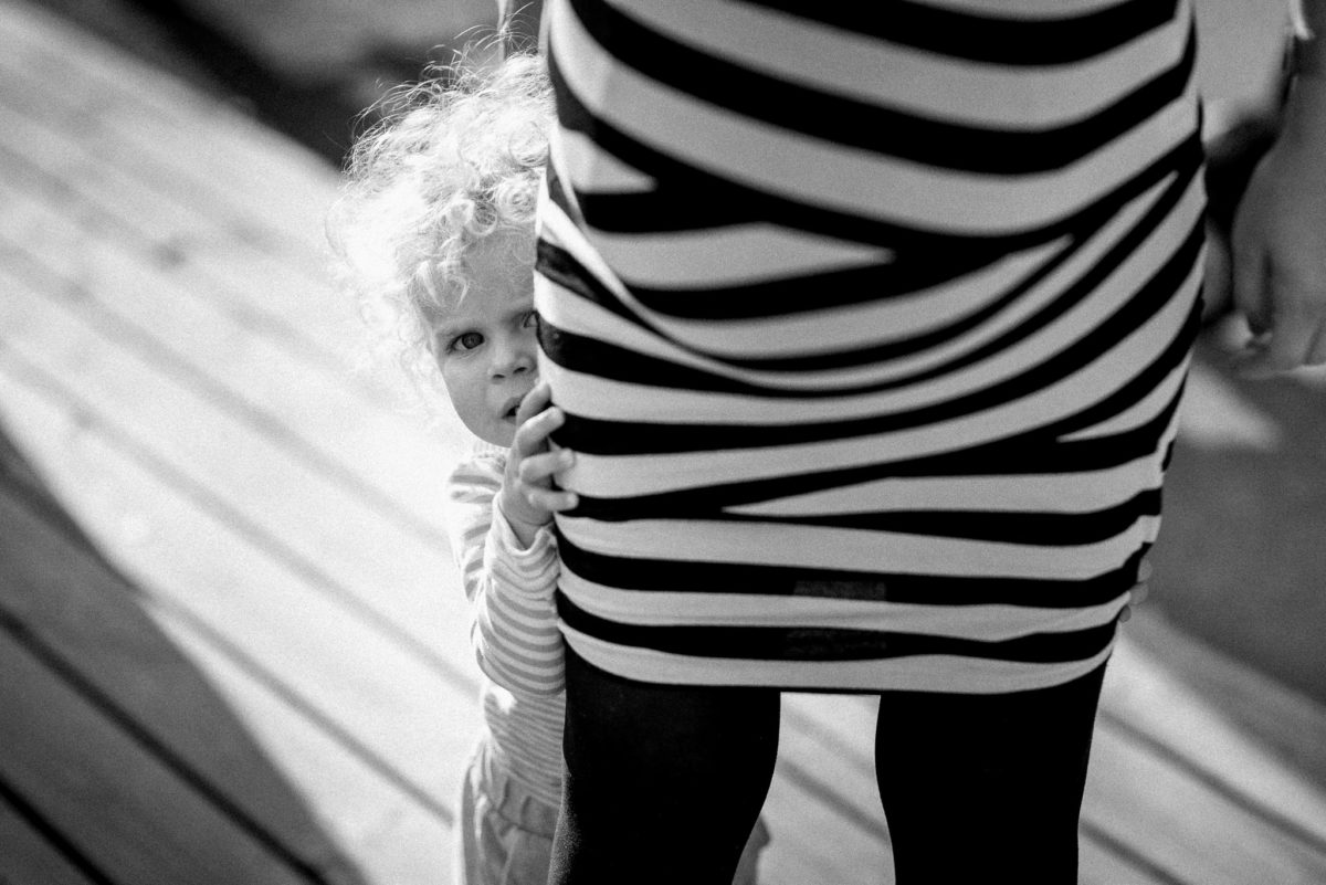 Hochzeitsfotografie, heiraten, Kind, Mädchen, Kleid, Streifen
