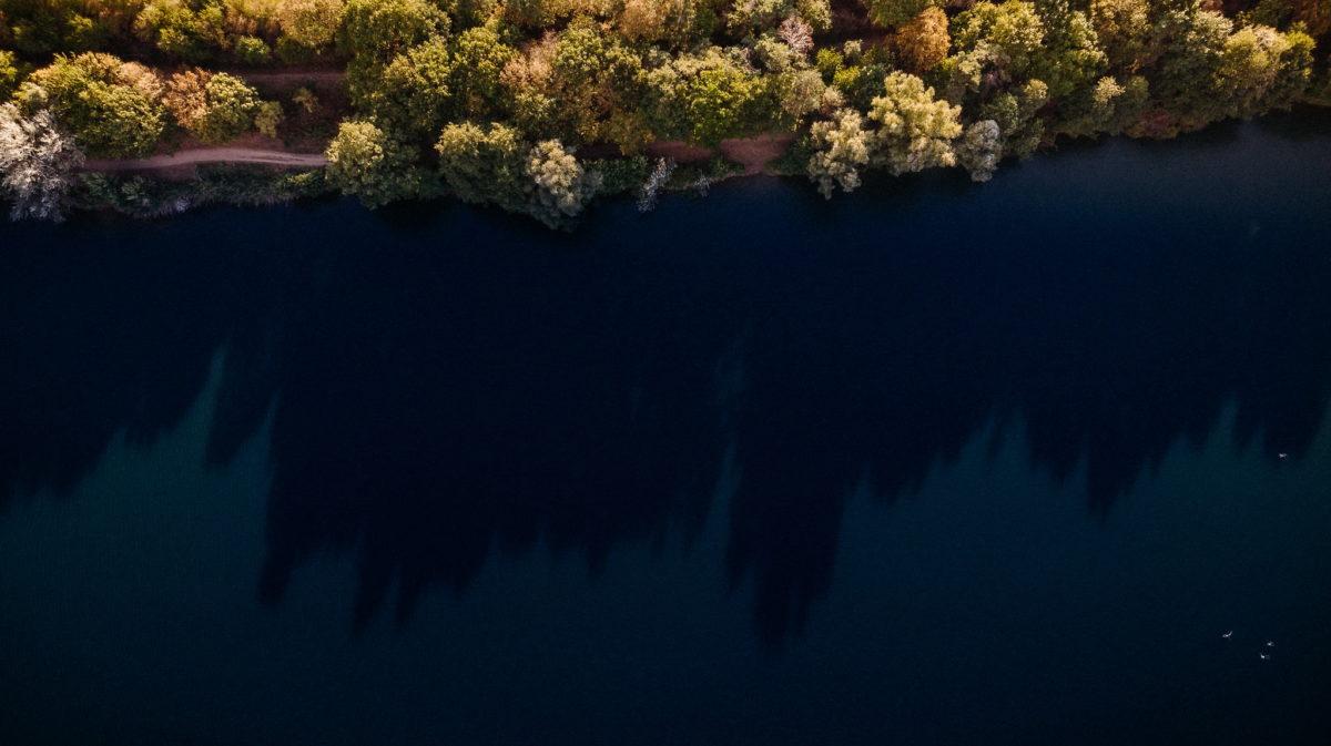 Hochzeitsfotografie, heiraten, Honisch Beach Niedernberg, See, Bäume, Natur