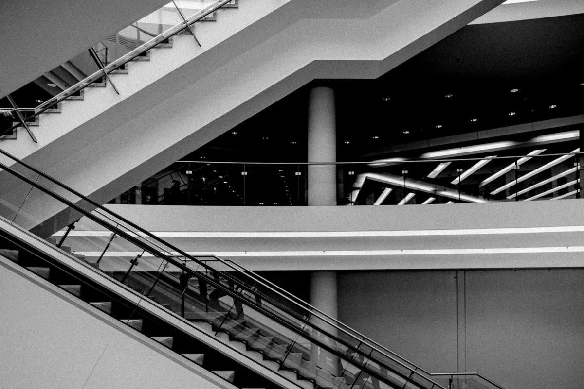 Treppe, Rolltreppe, Messegelände Nürnberg, Vivaness 2020, Biofach 2020