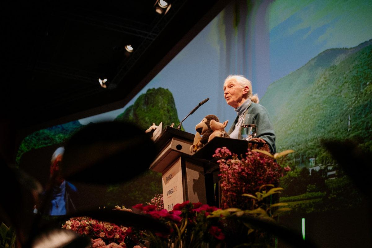 Jane Goodall, Verhaltensforscherin, Primatenforscherin, Schimpansen, Affen, Tansania, Afrika, Keynote Speech, Vivaness Biofach 2020, Eröffnungsrede