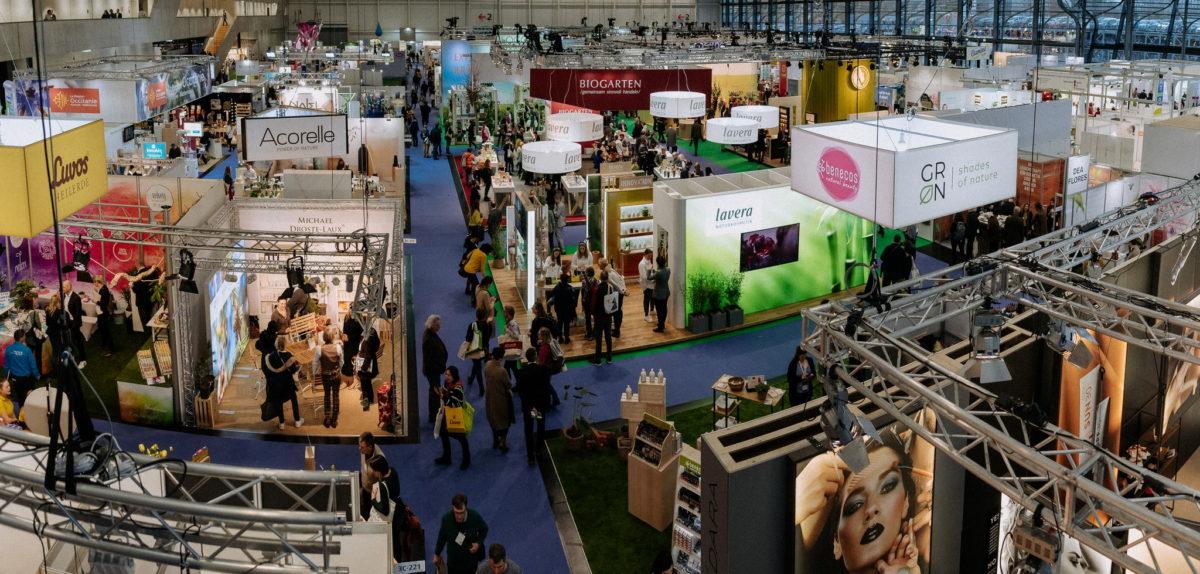 Vivaness 2020, Messefotografie, Eventfotografie, Luvos, Acorelle, Biogarten, grn, groen, lavera