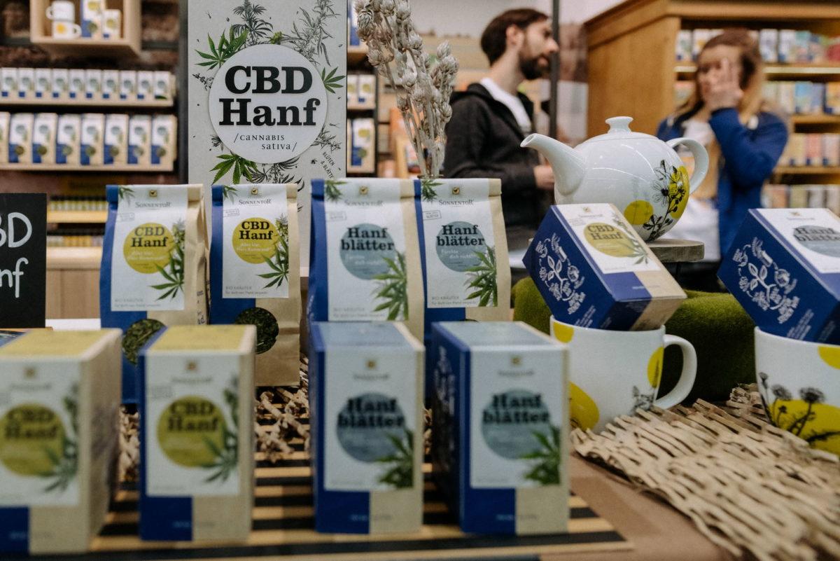 Sonnentor, CBD Hanf Tee, Tea, Cannabis Sativa, Messefotograf, Biofach 2020