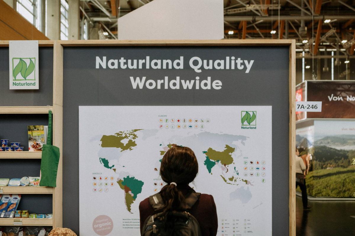 Naturland Quality Worldwide Tafel, Messe Biofach