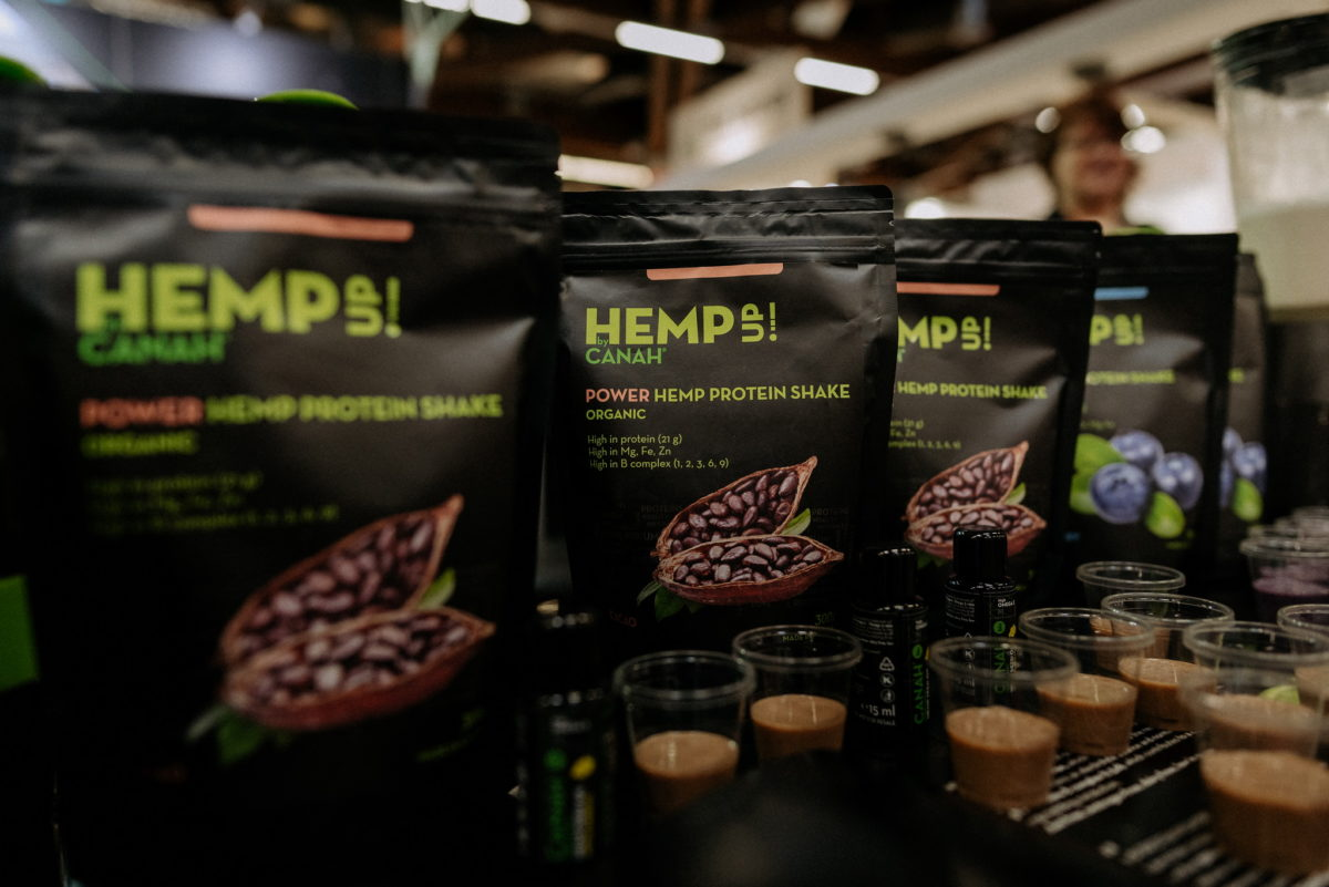 Canah Hemp Up, Power Hemp Protein Shake, Organic, Bio, Nachaltig, Biofach 2020, Messefotografie, Messefotos