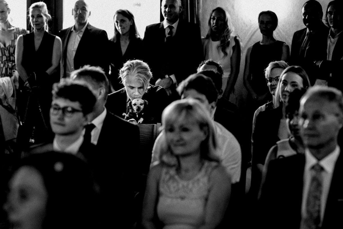 Hochzeit, heiraten, Hochzeitsfotograf, Standesamt, Gäste, Hund, Trauung